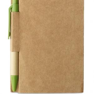 Notebook avec stylo écologique Publicitaire