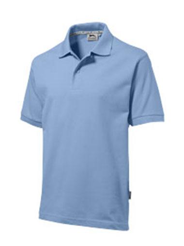 Polo en bleu ciel personnalisable