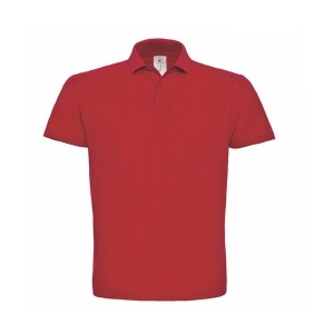 Polo en rouge personnalisable